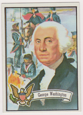 MINT FROM  PACK 1972 Topps US Presidents #1 George Washington CARD #1 IN SET