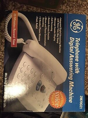 GE Telephone with Digital Answering Machine 29870GE1 Never Used