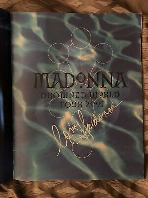 Madonna Signed Drowned World Tour Book
