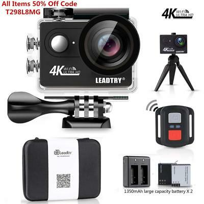 LeadTry HP7R Plus Sport Action Camera WiFi,4K 12MP HD Mini Cam,100Ft...