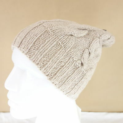 Casimier Hat Brown Cashmere Cap Cate Braid Pattern Knitted Soft Ladies Np 139