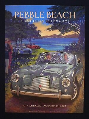 NEW 2007 Pebble Beach Concours Poster ASTON MARTIN DB2 Barry Rowe