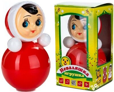 "Classic Nevalyashka Tumbler Little Girl Roly-Poly Toy With Sound, 9"" (M Size)"