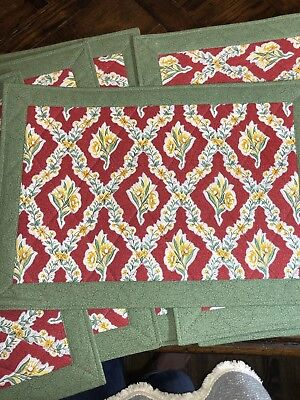 Pierre Deux French Country Placemats (8) Green/red