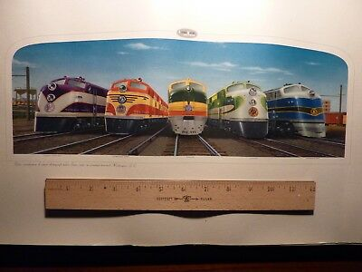 "GM LOCOMOTIVE 12"" x 21"" RARE COLOR PRINT, 1941 WASHINGTON, DC PASSENGER TERMINAL"