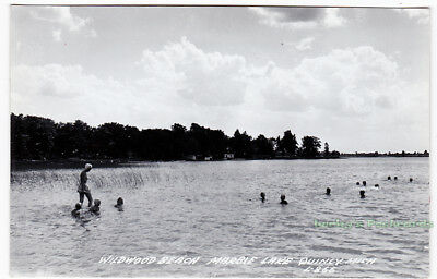 WILDWOOD BEACH Marble Lake QUINCY Michigan - c1940 Photo POSTCARD Branch County