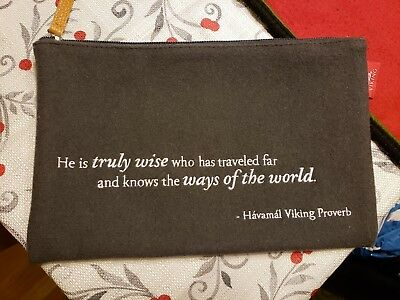 Viking Cruise Line VIKING Quote Travel Document Holder Bag Tote Pouch
