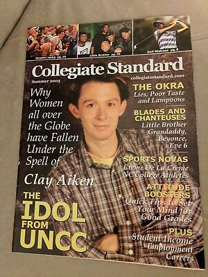 Clay Aiken Collegiate Standard Magazine Summer 2003