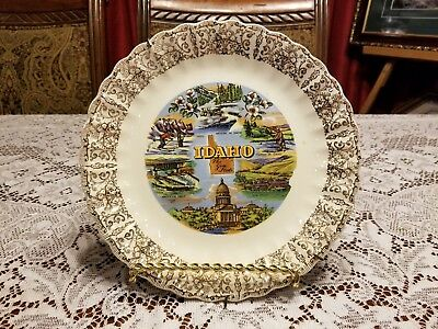 Vintage State of Idaho Souvenir Collector Plate