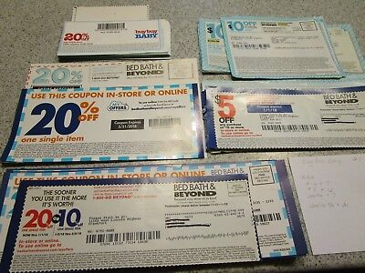 lot of mailer Bed Bath and Beyond coupons