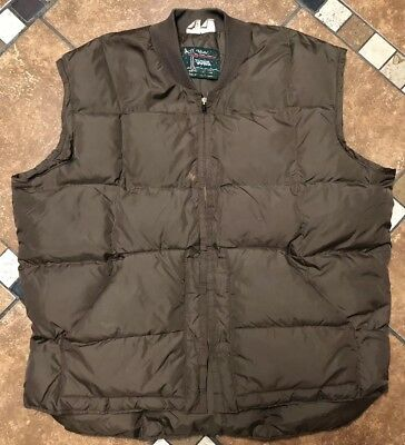 Vintage Walls Blizzard Pruf Goose Down Insulated Puffer Vest Mens XL USA Made