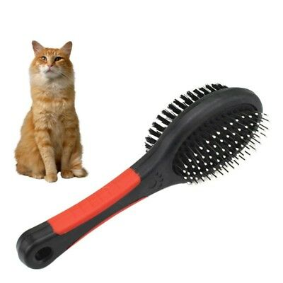 Pet Grooming Brush Double Sided Dog Cat Puppy Long Short Hair Shedding Tool US