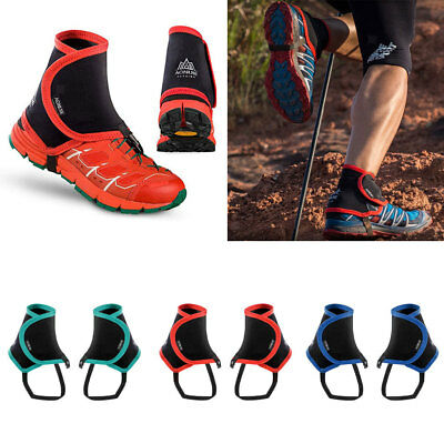 Low Trail Running Leg Gaiters Protective Wrap Shoe Covers Outdoor Hiking Walking