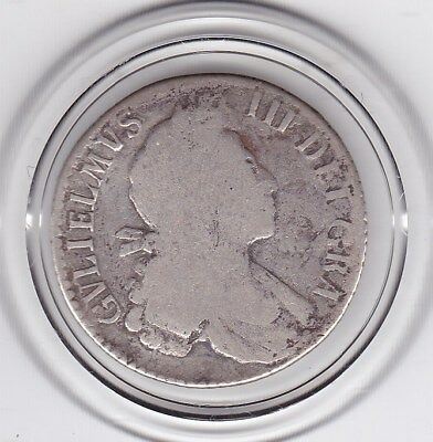 1699   King   William  III  Sterling  Silver  Shilling  British Coin