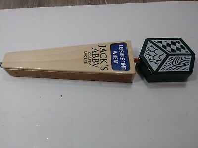 Jack's Abby Leisure Time Wheat Wood Green Craft Beer Tap Handle Mancave Draft