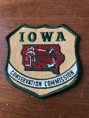 Vintage Iowa Conservation Commission Game Warden Patch Shield