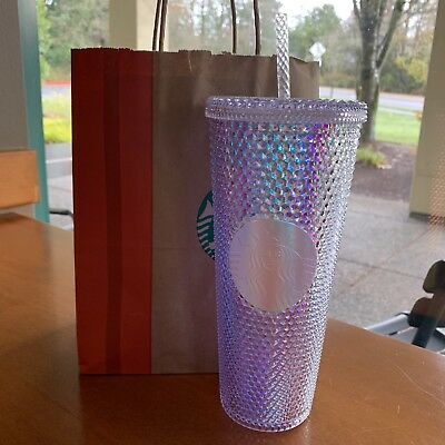 Starbucks 2018 Holiday Holographic Rainbow Iridescent Traveler Tumbler Venti Cup