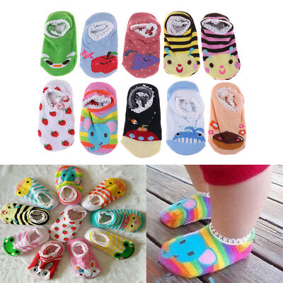 Cute Baby Cotton Cartoon Socks Newborn Infant Toddler Kids Soft Anti-slip Socks