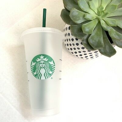 Starbucks Frosted 24oz Venti Clear Cup Tumbler Reusable Hard Plastic