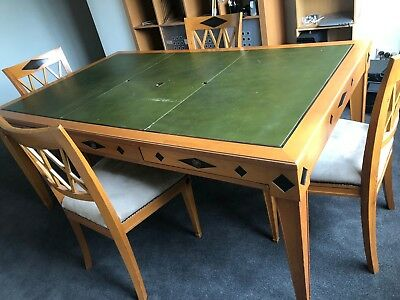 Art Deco Style Desk/Table and four chairs