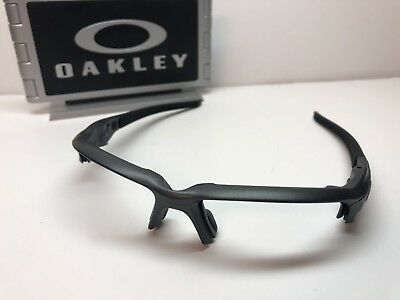 e75563e01f Oakley Flak Draft Matte Steel 9364-0467 Sunglasses Frames W Chrome Icons
