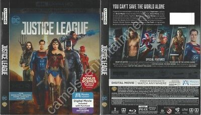 Justice League (4K Ultra HD [UHD] Blu-ray SLIPCOVER ONLY * SLIPCOVER ONLY)