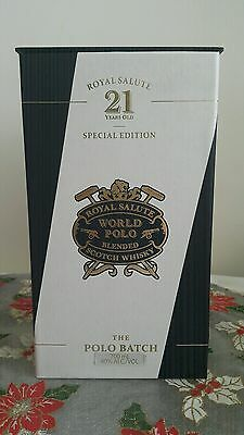 Royal Salute Scotch Whisky World Polo!! 21 Y.O! Special Edition! Sealed & Mint!