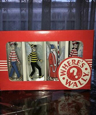 Where's Wally Shot Glass Pack x 4! New!