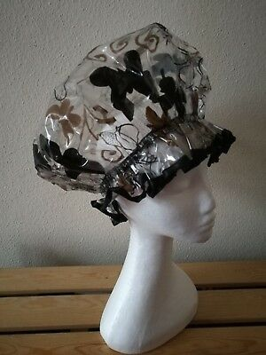 Chocolate Brown and Black Butterflies Shower Cap