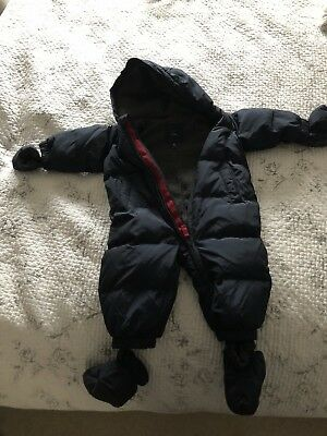 Deep Blue Snow Suit, age 6- 12 months, by Baby Gap