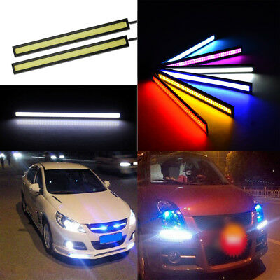 2/4/6X12V LED Car Interior White Strip Lights Bar Lamp Car Van Caravan Boat Home