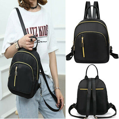 Women Nylon Backpack Preppy Casual Small Travel Shoulder Bags Ladies School Bag