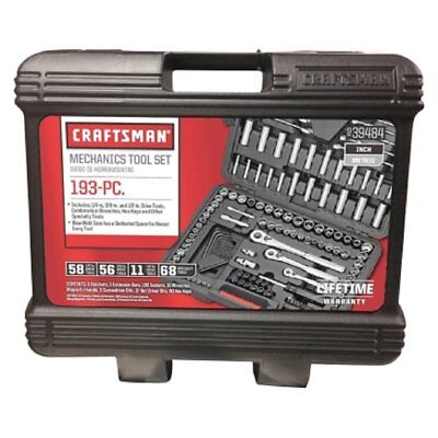 """CRAFTSMAN 939484 193 Pieces 1/4 """" Drive 1/2 """" Alloyed Steel"""