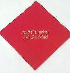 Christmas Stuff the Turkey Paper Serviettes Party Tableware Dinner Lunch Napkins