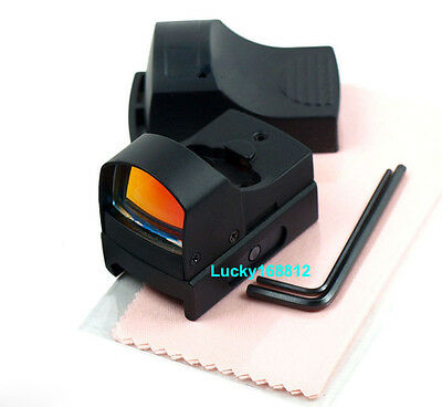 Tactical Mini Compact Reflex Micro Red Dot Sight Fit For Scope Rifle & Pistol !!