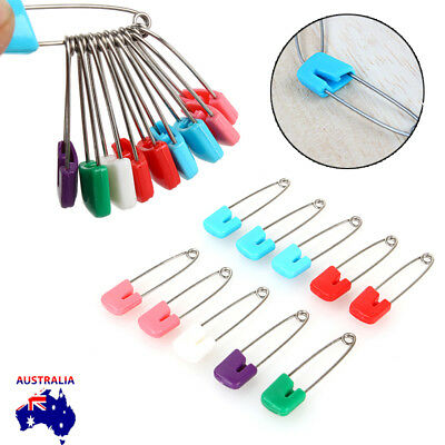 10Pcs Nappy Safety Pins Baby Care Craft Scrapbook Sewing Baby Diaper AU Stock