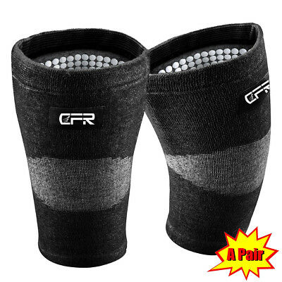 Pair Bamboo Compression Knee Support Brace Guard Arthritis Pain Sports Gym Fq