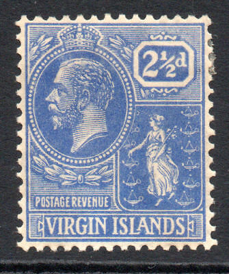 Virgin Islands 2 1/2d Stamp c1922-28 Mounted Mint (some gum tone) (472)