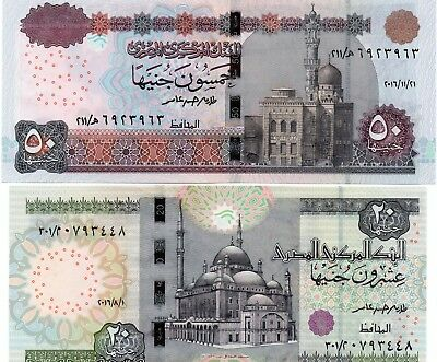 EGYPT 50 & 20 Pounds 2016 x 2 UNC Banknote Set