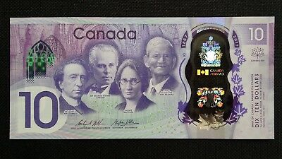 CANADA $10 Dollars 2017 P NEW 150th Anniversary Commemorative UNC Banknote