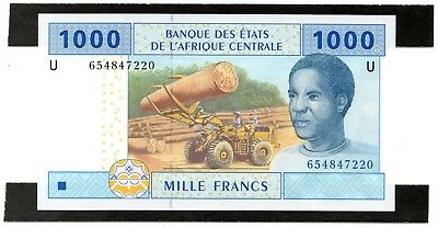 CENTRAL AFRICAN STATES 1000 Francs 2002 P 207Ud UNC Banknote