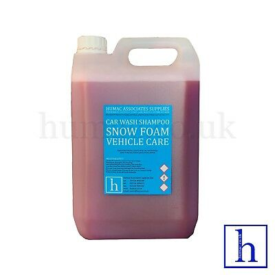 BUBBLEGUM HI FOAM SNOW FOAM SHAMPOO 5 Litre Drum Car Vehicle Wash 5L HUMAC