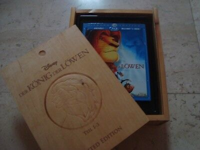 THE LION KING TRILOGY Walt Disney RARE WoodenBox BLU-RAY slipcover Coll. Edition