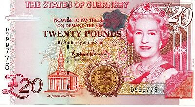 GUERNSEY £20 Pounds ND 1996 P58c UNC Banknote