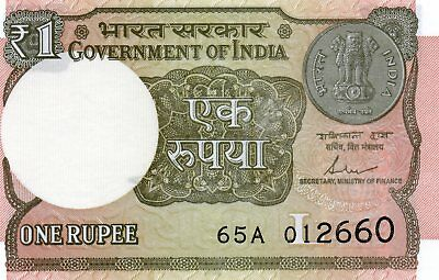 INDIA 1 Rupee 2017 P NEW Letter L UNC Banknote