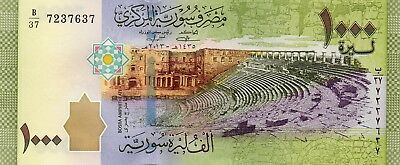 SYRIA 1000 Pounds 2013 P116 UNC Banknote