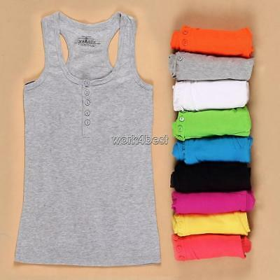New Women's Ladies's Sleeveless Tank Tops Cami SLeeve T-Shirt