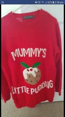 Blooming Marvellous Maternity Christmas Jumper Size S