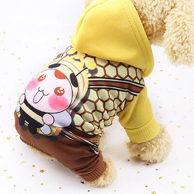 Super Cute Warm Fleece Hoodie Sweater Jumpsuit Clothes For Pet Dog Cat