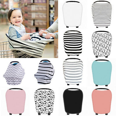 New Stretchy Multi-Use Car Seat Canopy Nursing Cover + Infant Baby Carrying Case